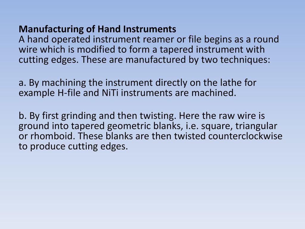 Endodontic Instruments - ppt download