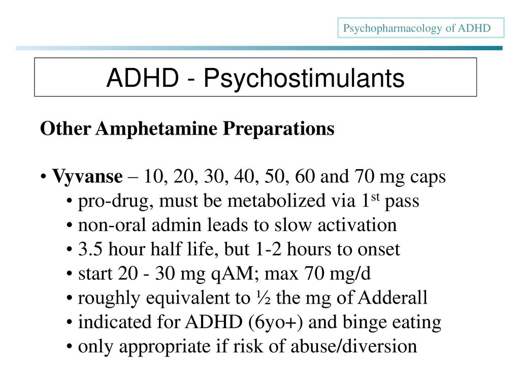 Psychopharmacology of ADHD - ppt download