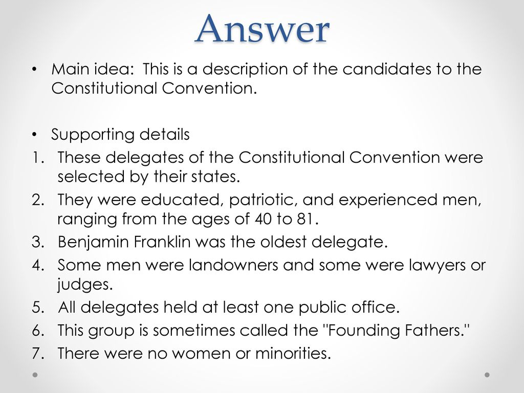 Constitutional Convention Worksheet Ppt Download