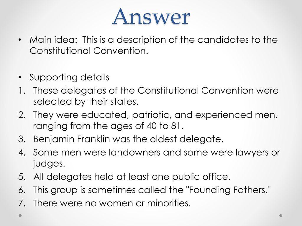 Workbooks us constitution worksheets : Constitutional Convention Worksheet - ppt download