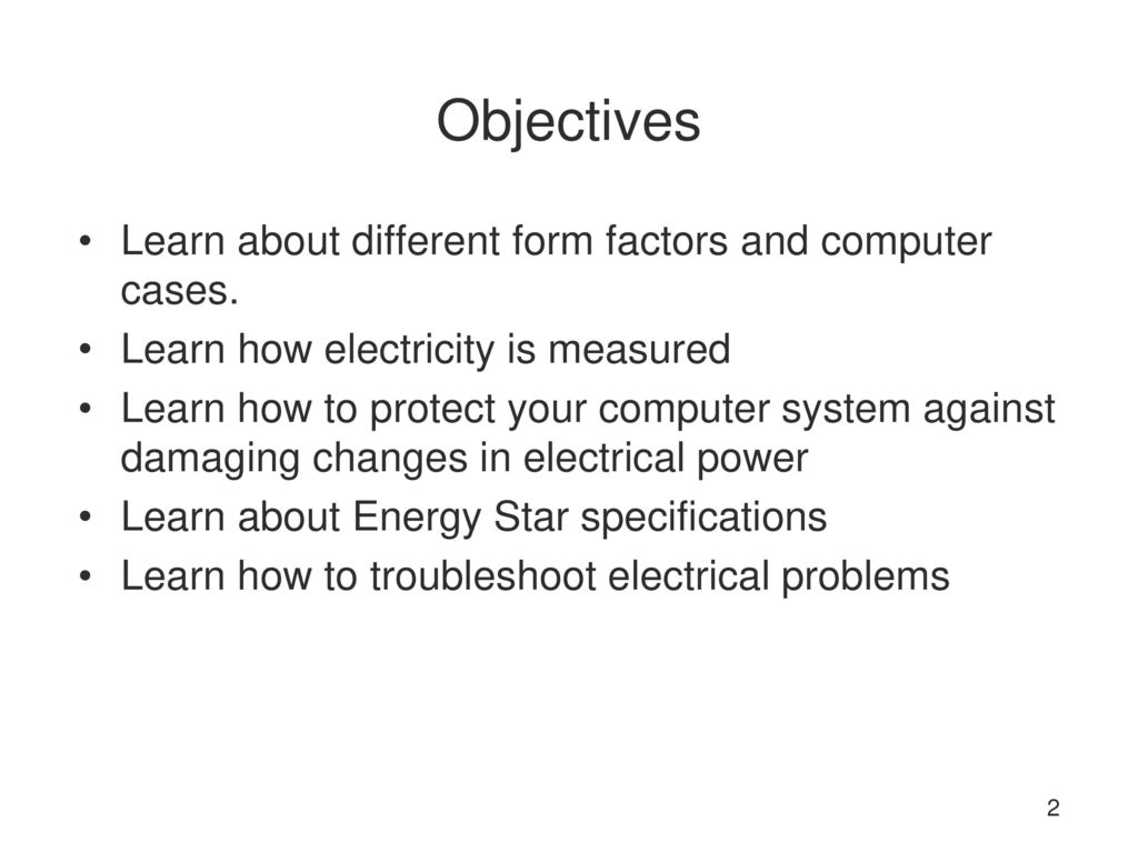 Week 3 Form Factors and Power Supplies - ppt download