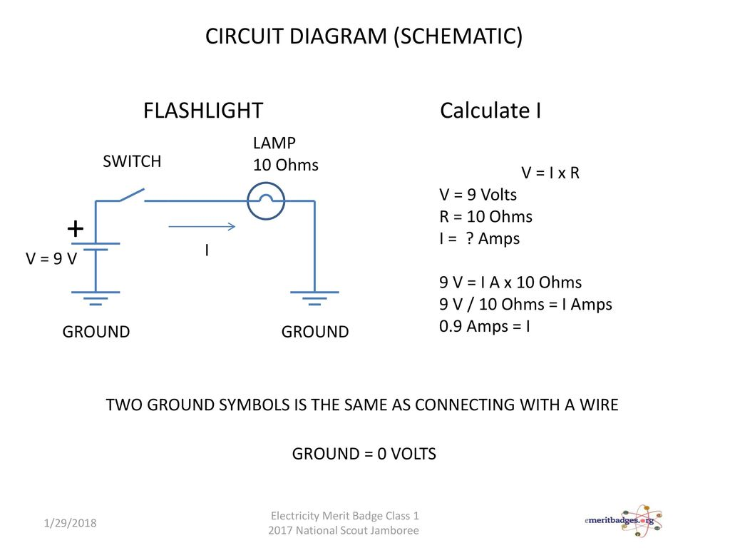 Electricity Electronics Merit Badge Ppt Download Flashlight Wiring Diagram Circuit Schematic Calculate I