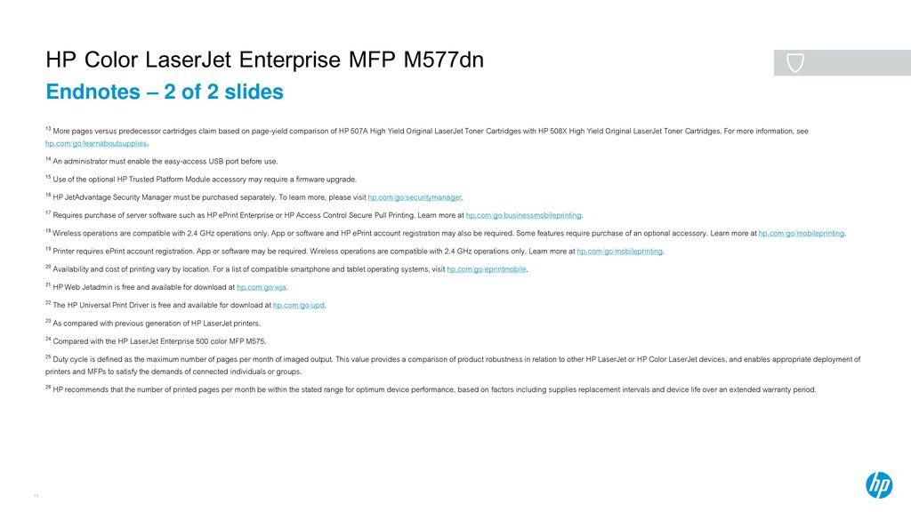 HP Color LaserJet Enterprise MFP M577dn - ppt download