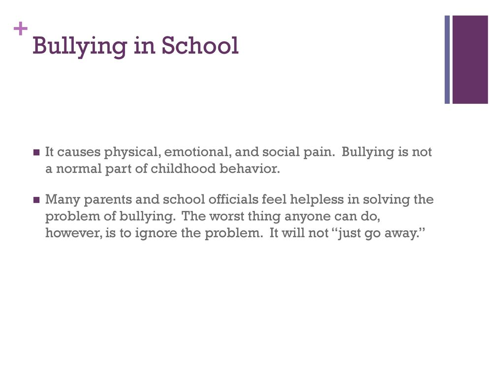 the causes of bullying behavior