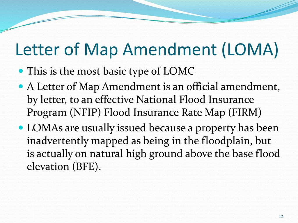 12 letter of map amendment