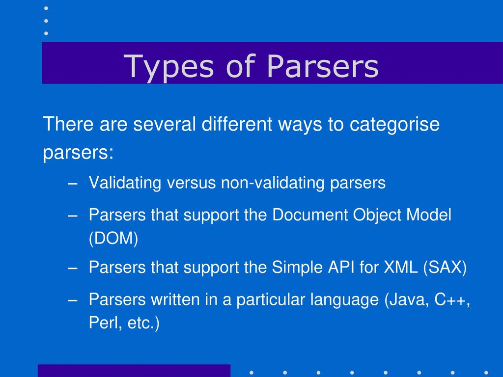 Non validating xml parsers in java