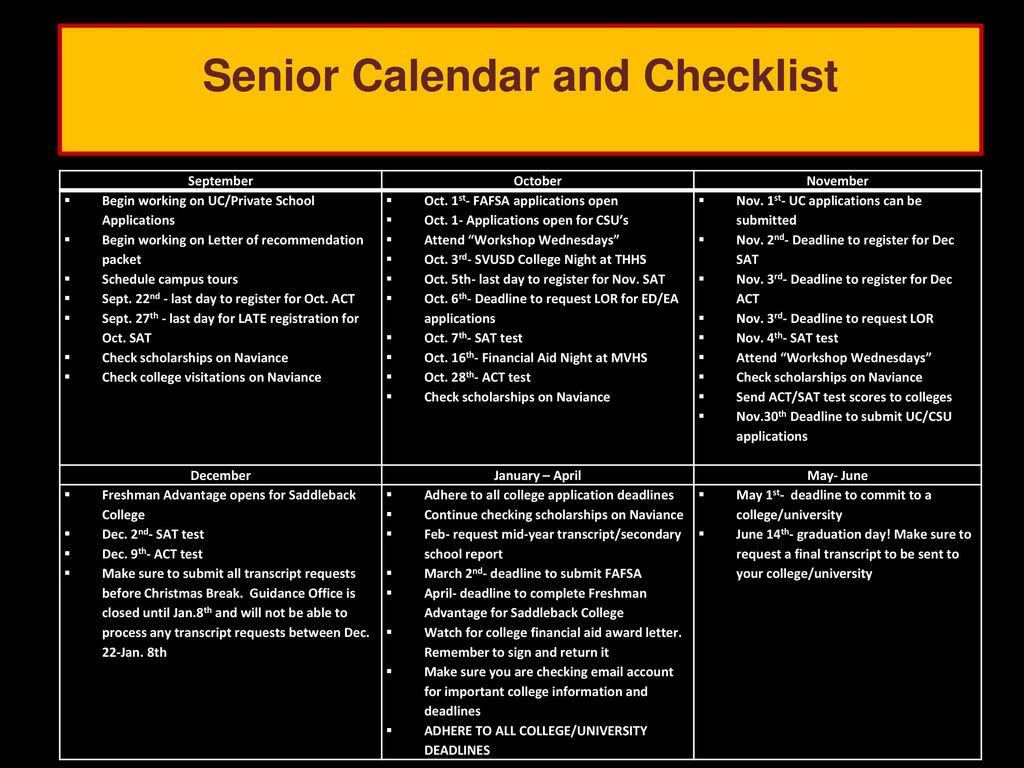 Svusd Calendar.Senior Parent Night Class Of 2018 Lhhs Guidance Department Ppt