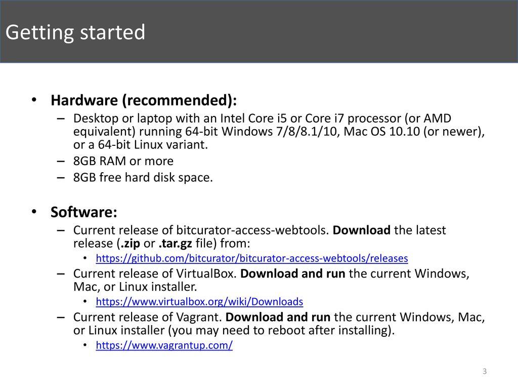 bitcurator-access-webtools Quick Start Guide - ppt download