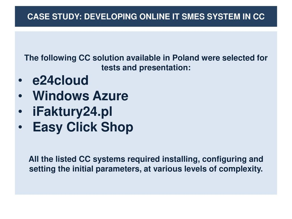 e24cloud case study