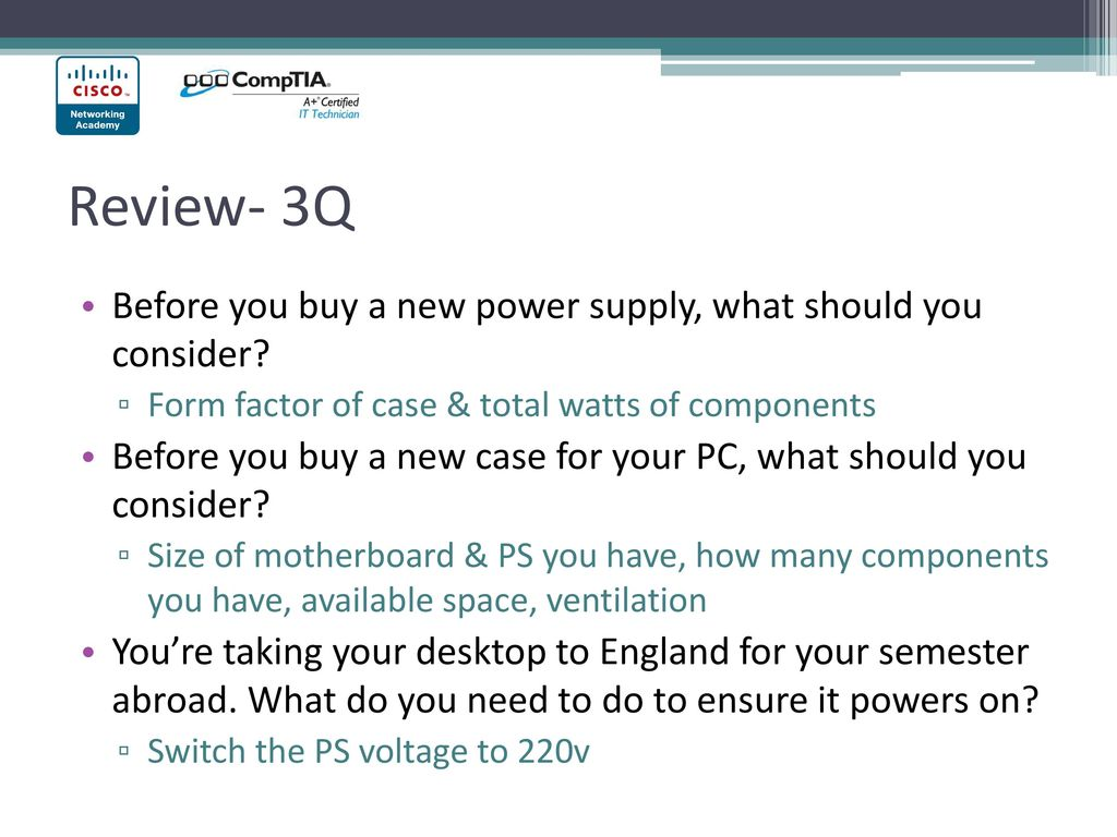 Chapter 1 Intro To The Personal Computer Ppt Download At Power Supply Form Factor Review 3q Before You Buy A New What Should Consider