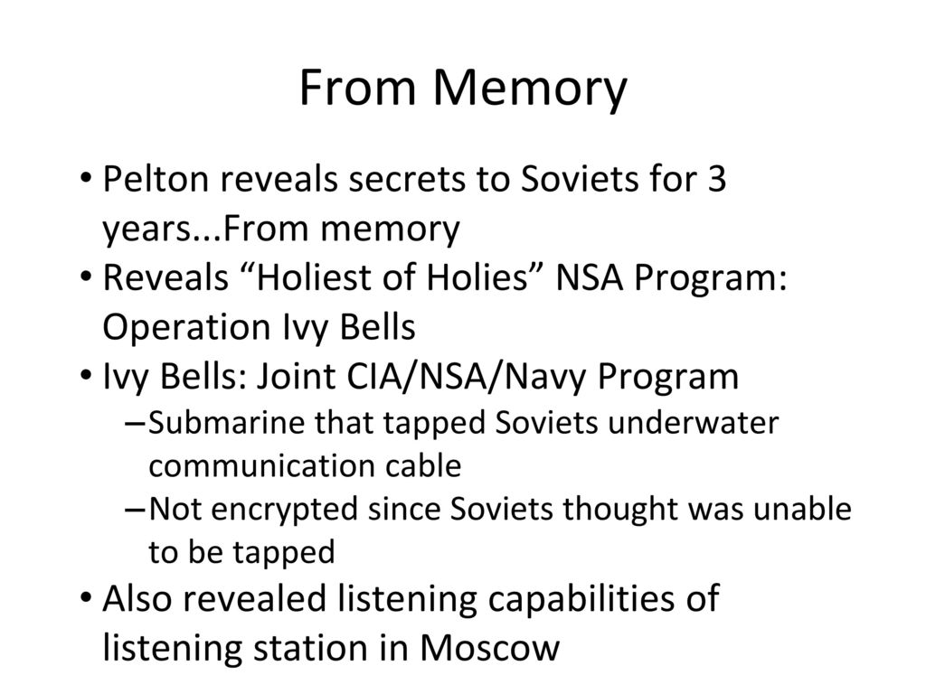 Secret Operation Ivy Bells