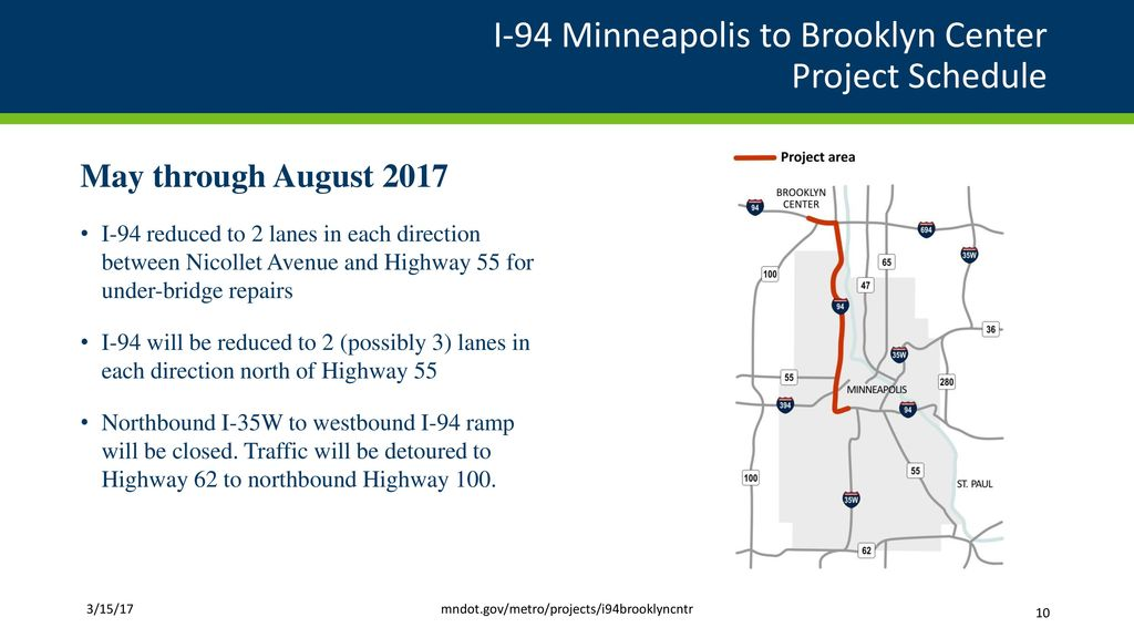 Major MnDOT Highway Improvement Projects West Metro - ppt