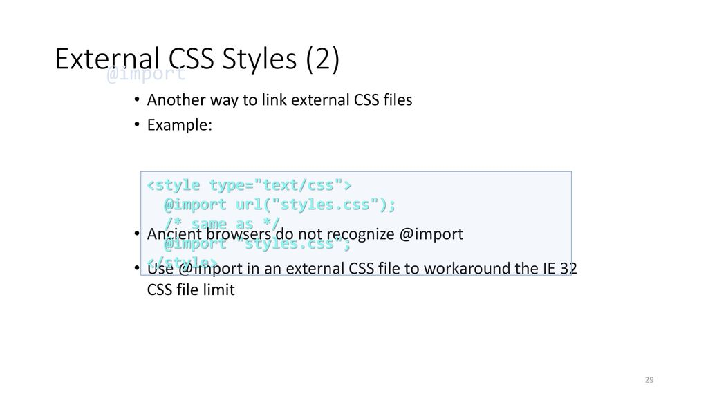 Styling with Cascading Stylesheets - ppt download