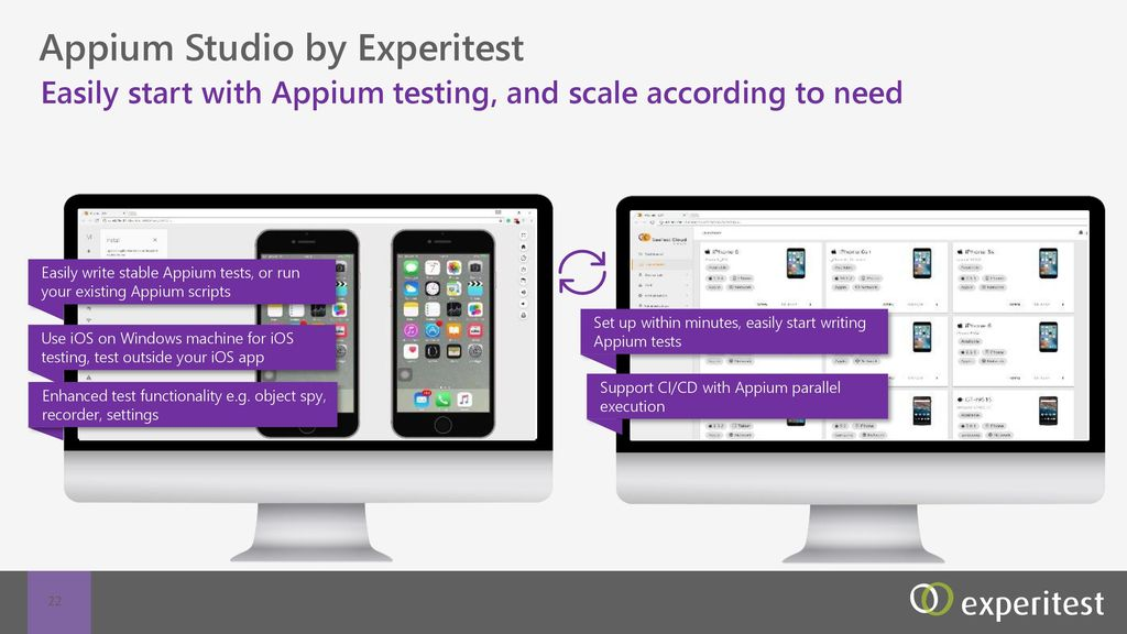 Appium Studio Appium testing made easy at any scale  - ppt