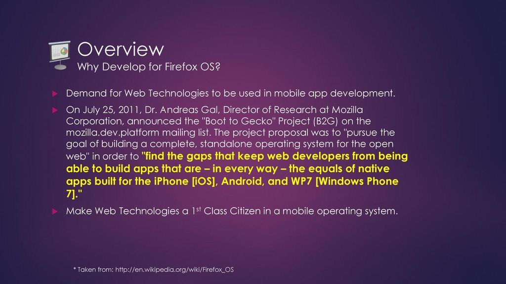 Getting Started with Firefox OS - ppt download