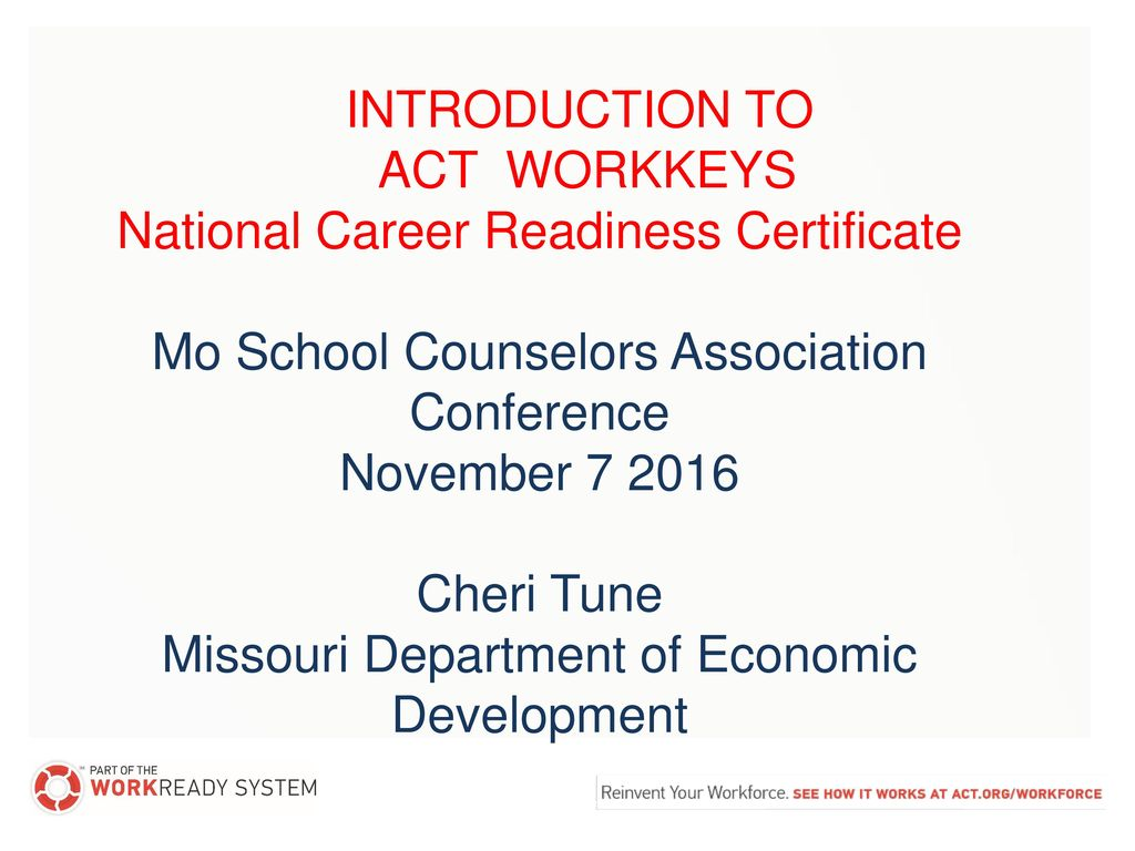 National Career Readiness Certificate - ppt download