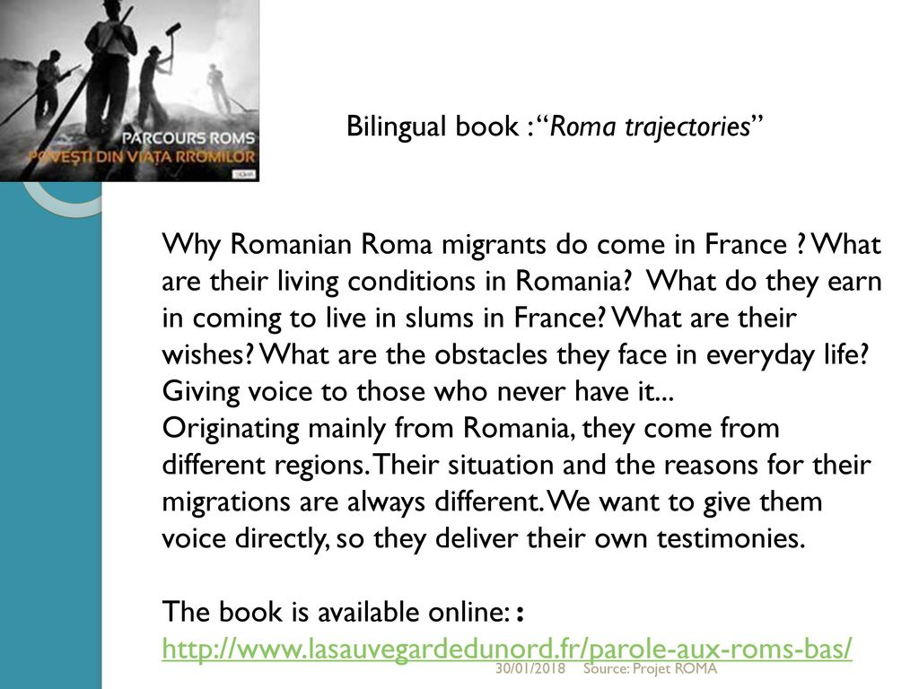 Inclusion en France et en Roumanie des roms migrants