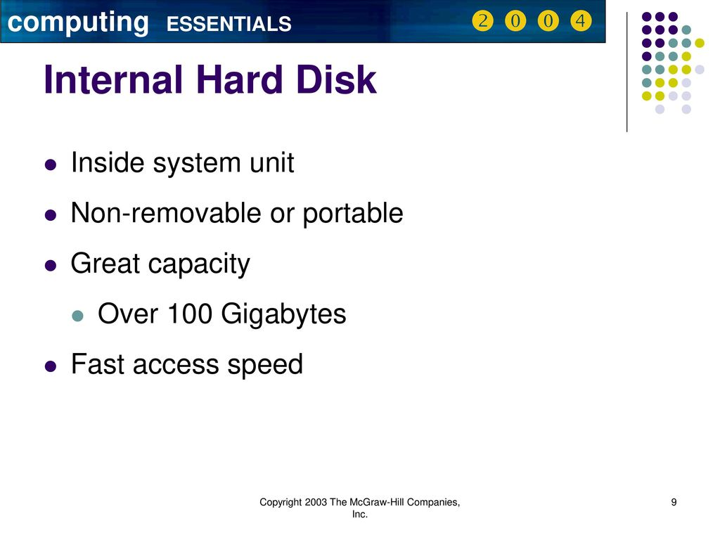 6 Secondary Storage computing ESSENTIALS     - ppt