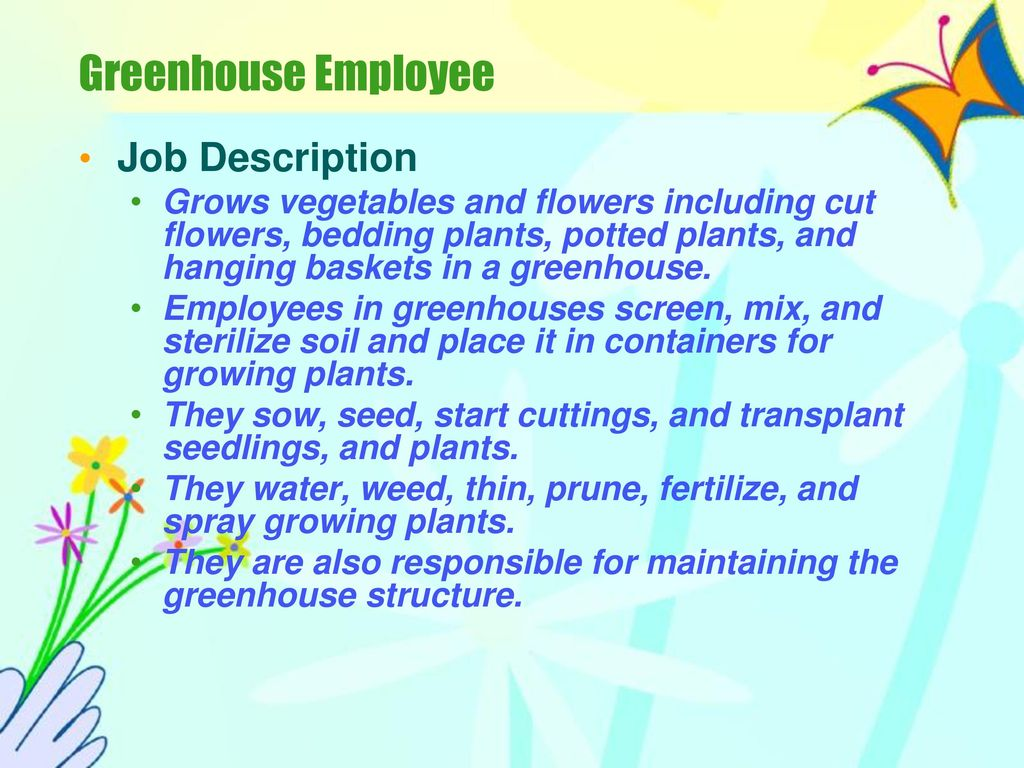 employability skills in horticulture ppt download