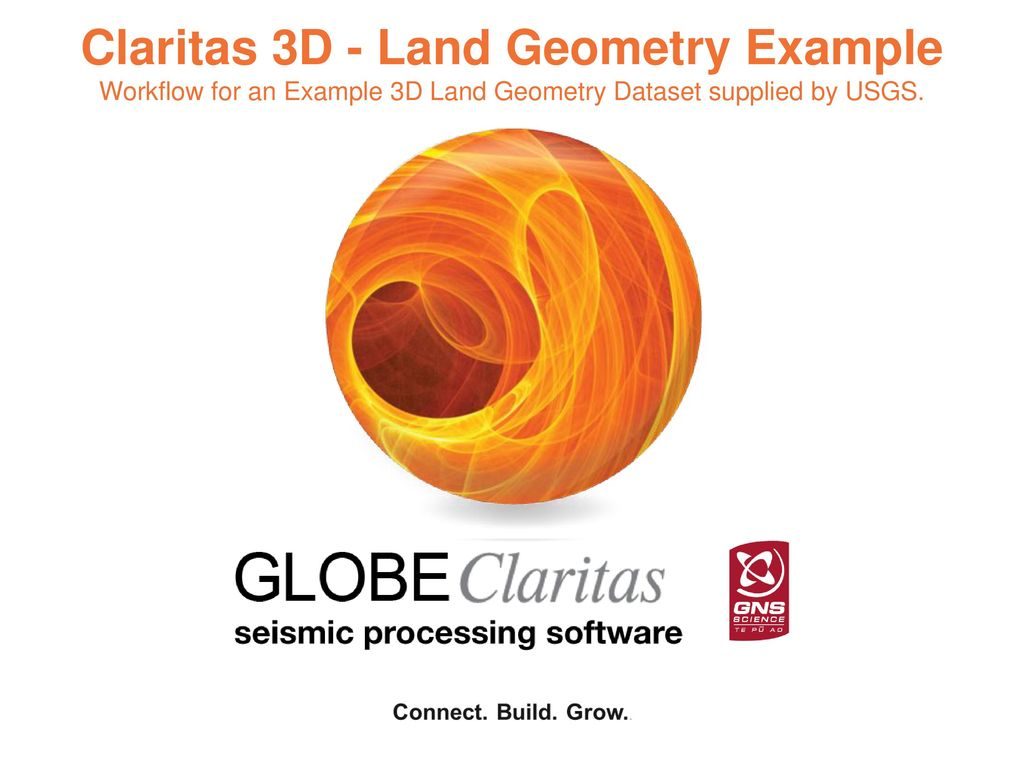 1 Claritas 3D - Land Geometry Example Workflow for an Example 3D Land  Geometry Dataset supplied by USGS.