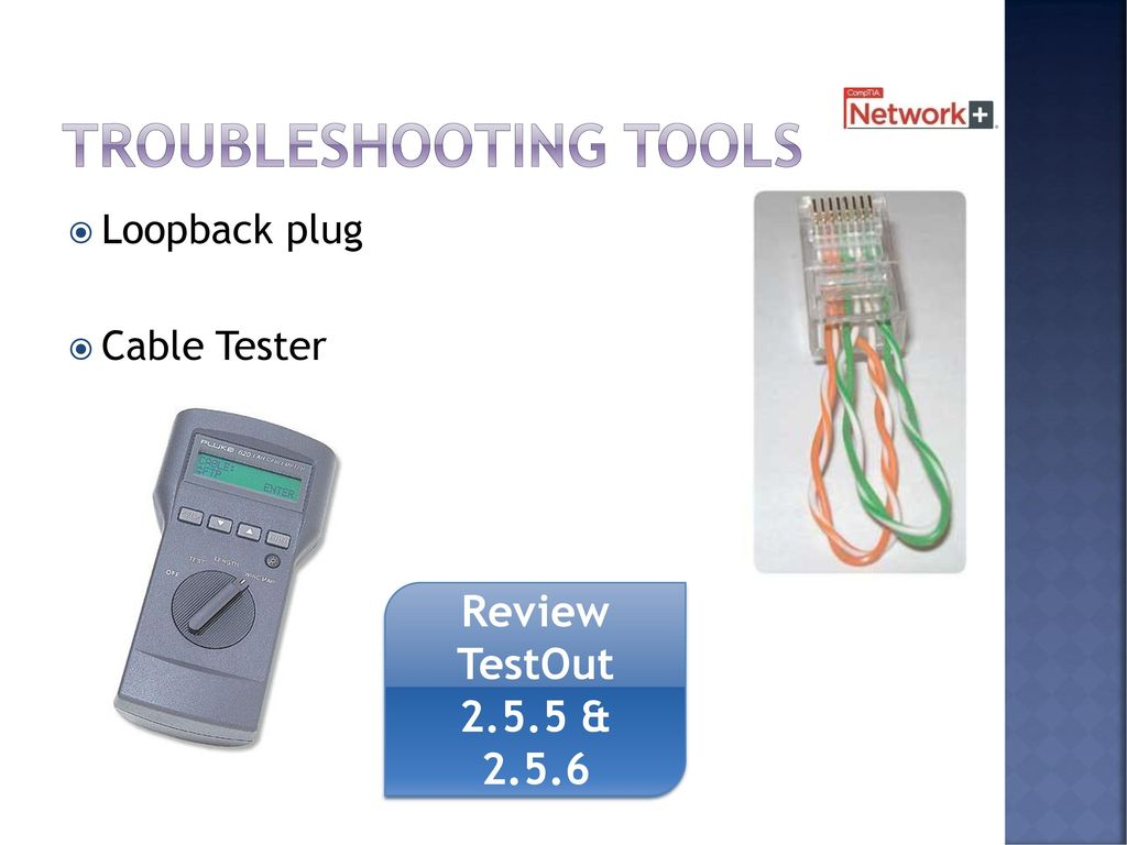 Cables And Connectors Chapter 2 8 Days Including Test Ppt Download Loopback Connector Wiring 52 Troubleshooting Tools Plug