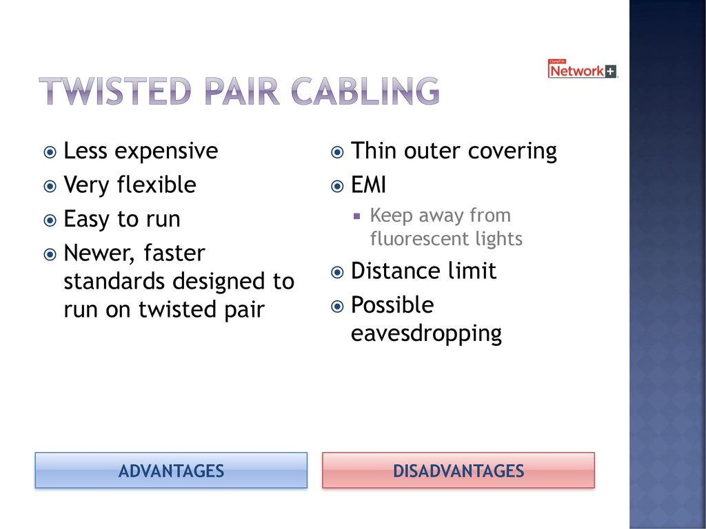 Cables And Connectors Chapter 2 8 Days Including Test Ppt Download Twisted Pair Wiring 6 Cabling Less Expensive Very