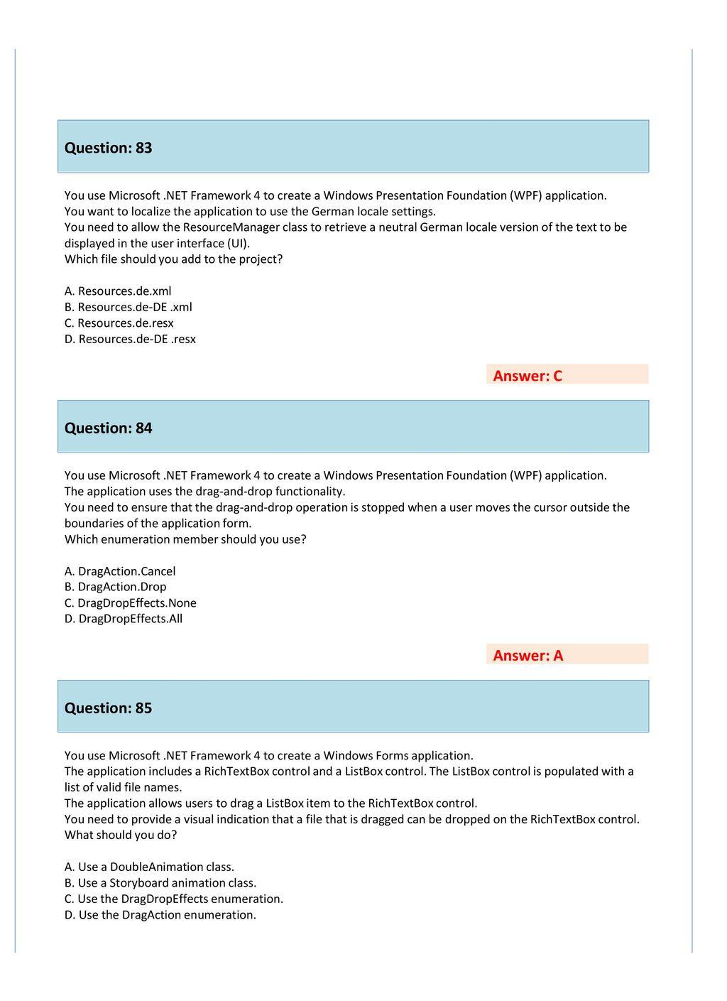 Microsoft Windows Apps Dev w/Microsoft  NET Framework 4