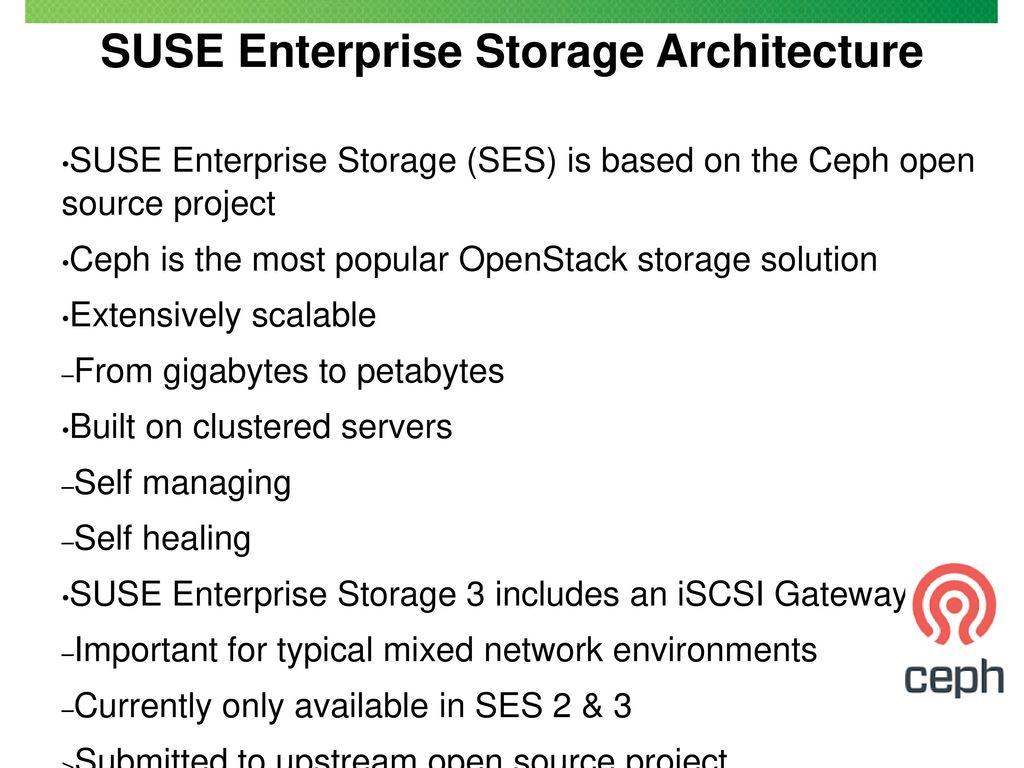 SUSE Enterprise Storage - ppt download