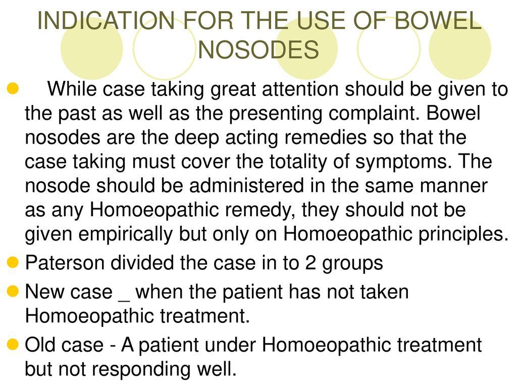 BOWEL NOSODES DR S PRAVEEN KUMAR Homeopathy 4 Everyone