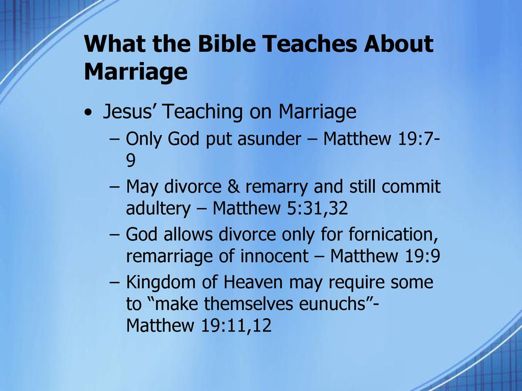 What does the Bible Say Regarding Same-sex Marriage? - ppt