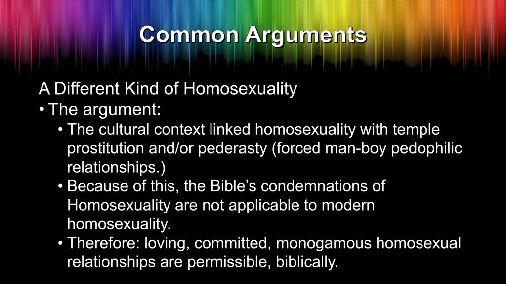Different categories of homosexuality