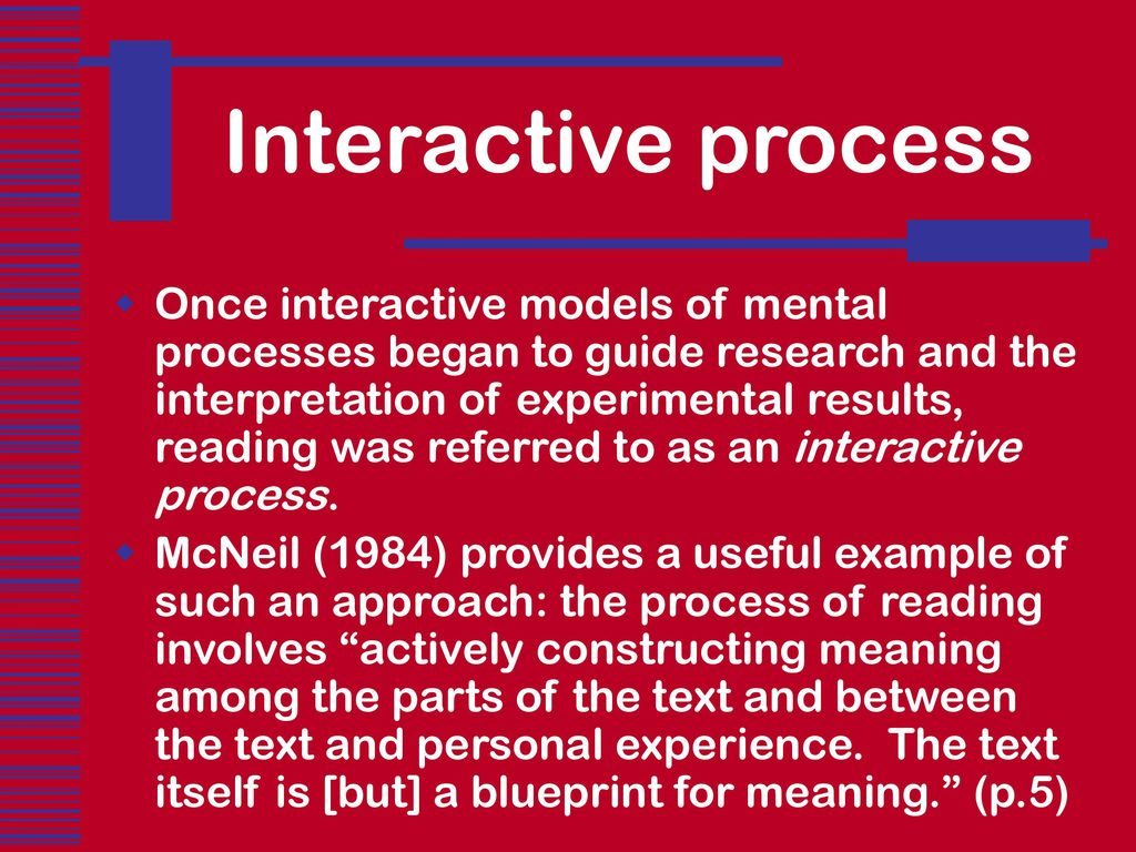 Comprehending written language ppt download 37 interactive process once interactive models of mental malvernweather Choice Image
