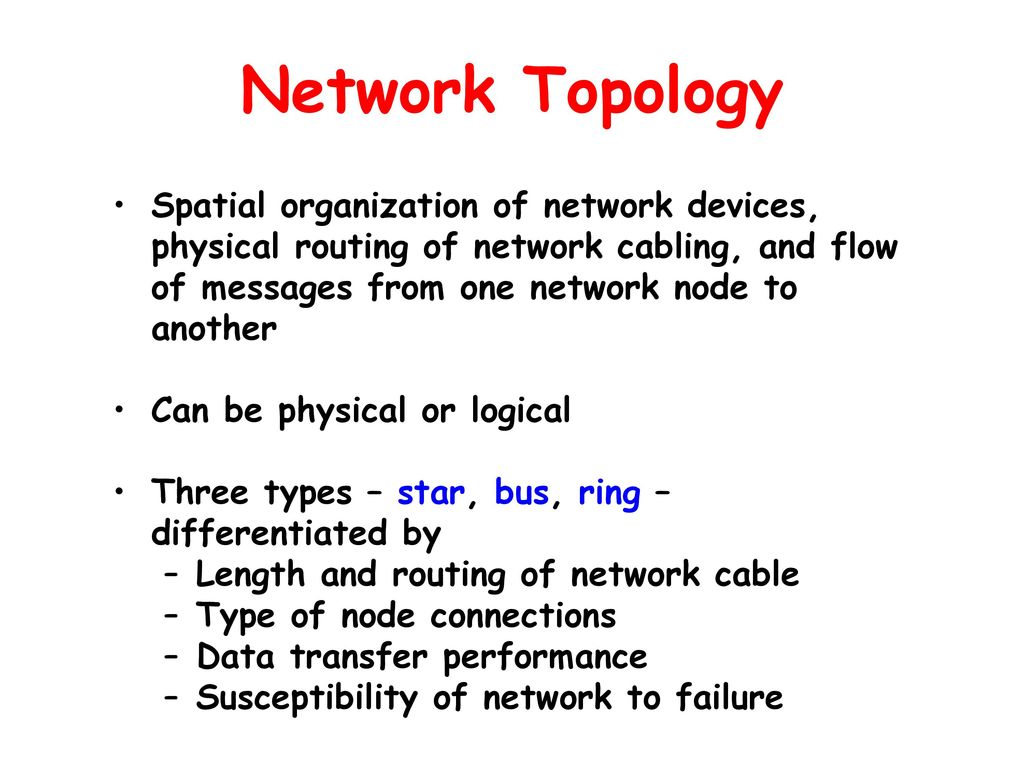 Chapter 9 Computer Networks Ppt Download Can Bus Network Diagram 5 Topology