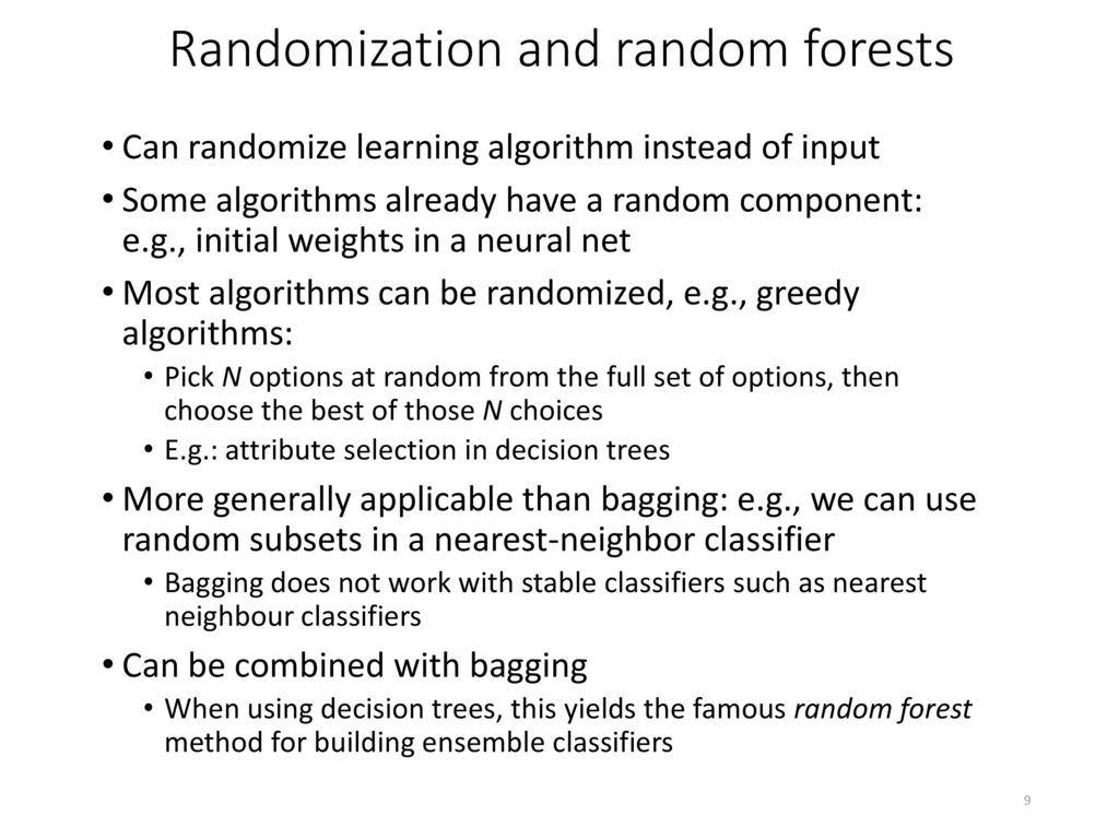 random forest an ensemble learning algorithm This article describes how to use the two-class decision forest module in azure machine learning studio, to create a machine learning model based on the decision forests algorithm decision forests are fast, supervised ensemble models this module is a good choice if you want to predict a target.