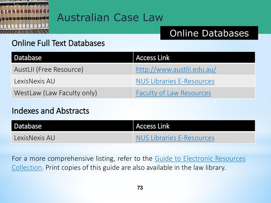 Researching Singapore, UK and Australian Case Law - ppt download