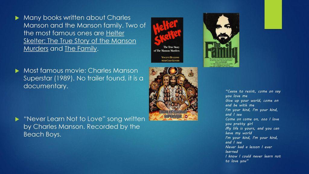 Charles Manson By: matt lesko  - ppt download