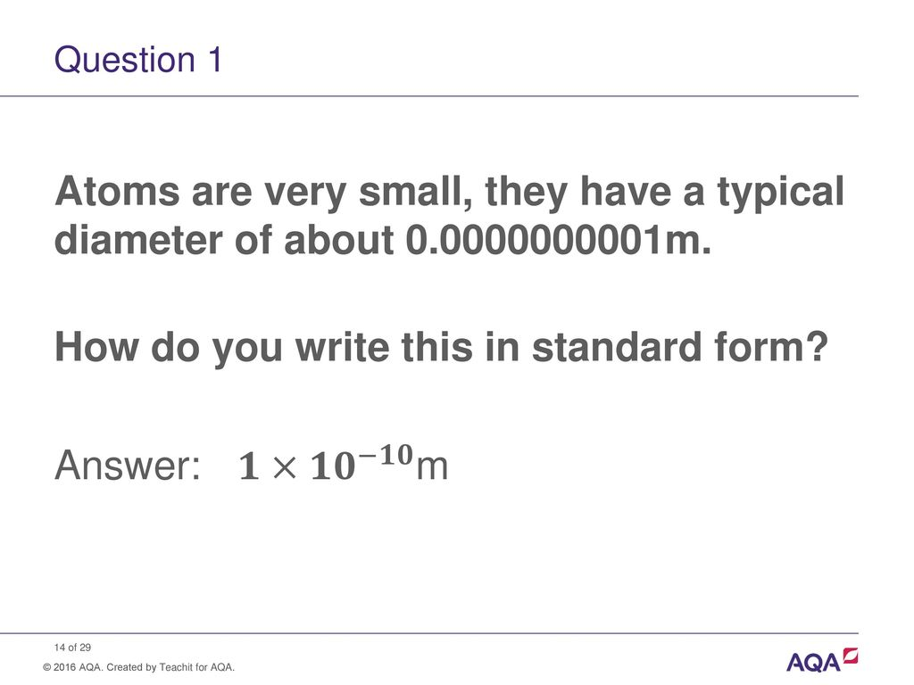 Standard Form And Order Of Magnitude Calculations Ppt Download