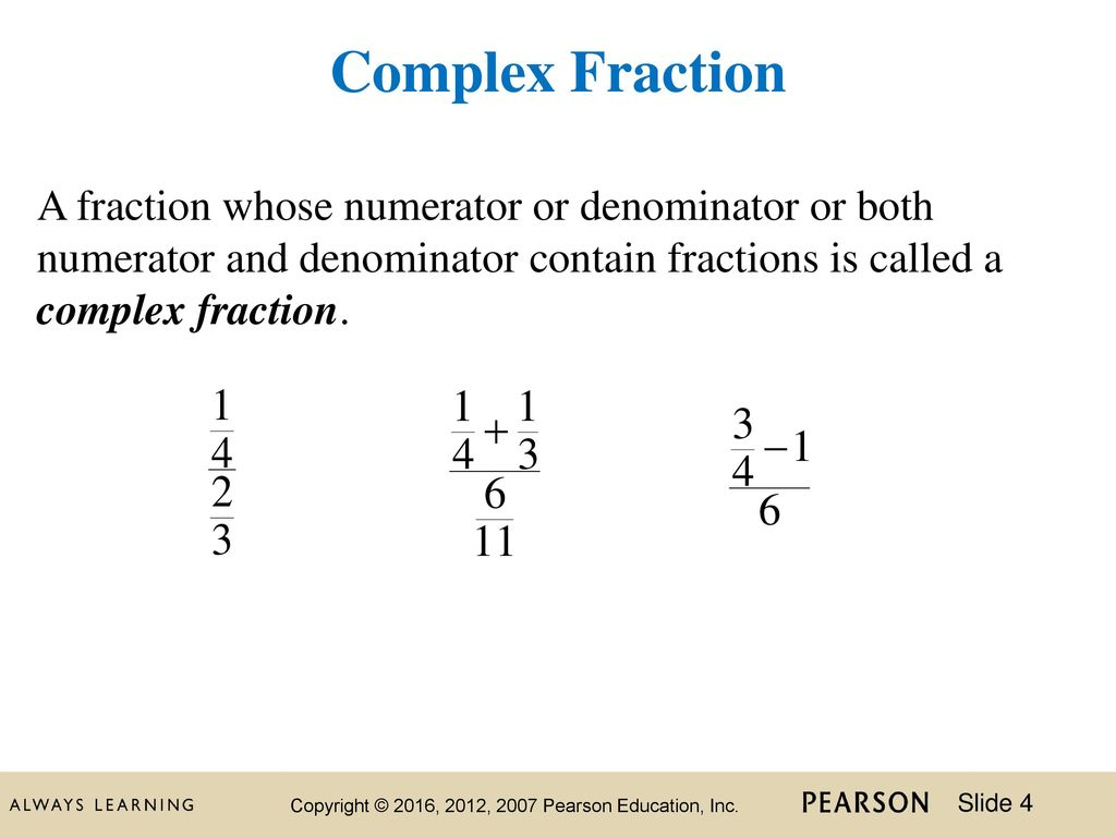 What are the fractions called 7