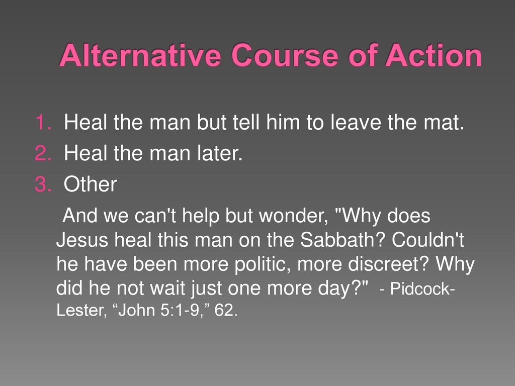 alternative courses of action meaning