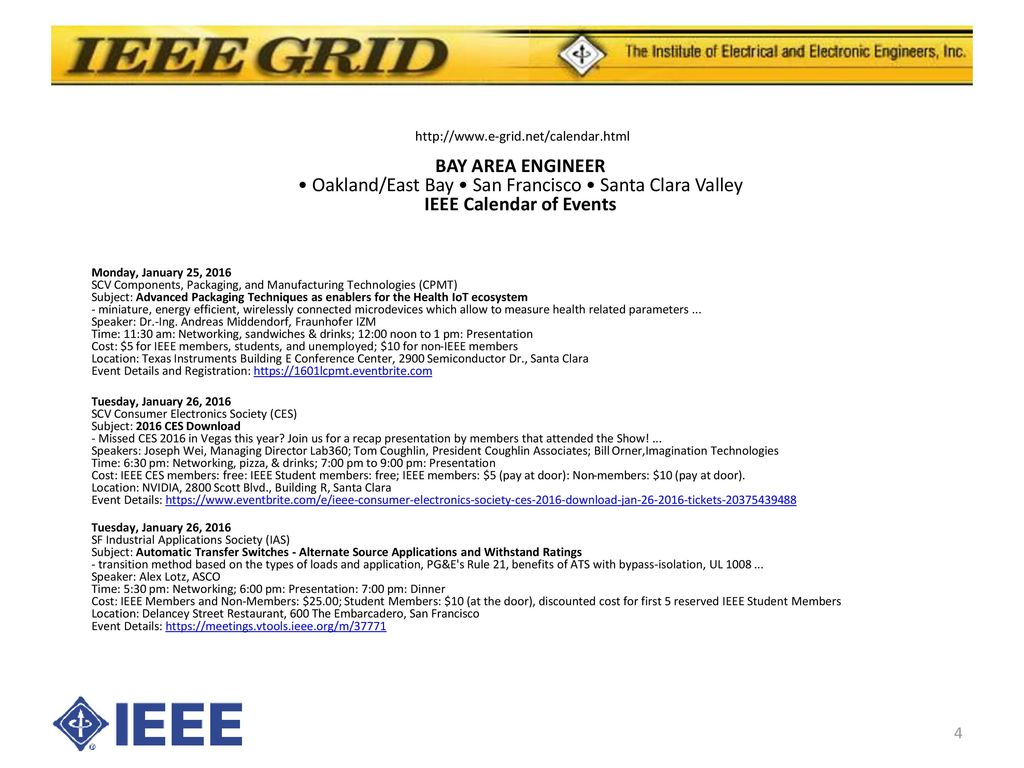Sf Events Calendar.The E Grid Of The Sf Bay Area Ppt Download
