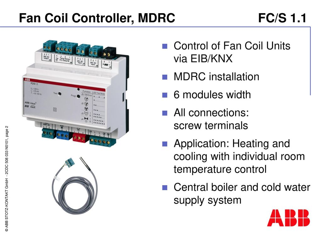Fan Coil Controller FC/S ppt download