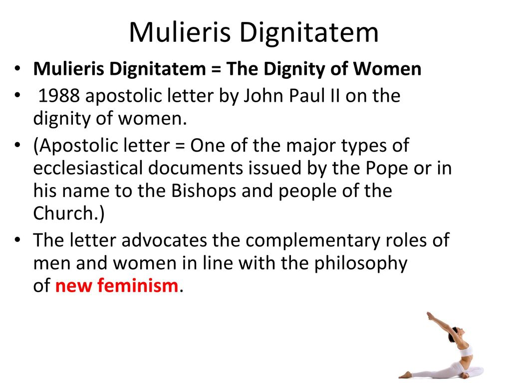 Mulieris dignatatem introduction. Ppt download.