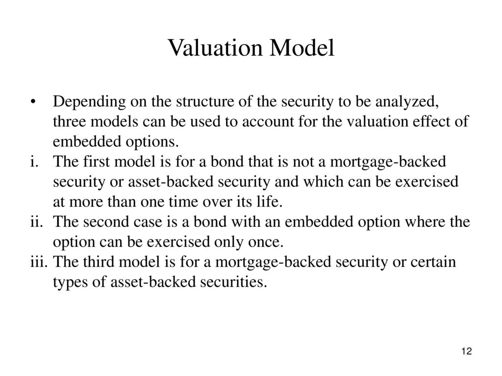Valuing Bonds With Embedded Options