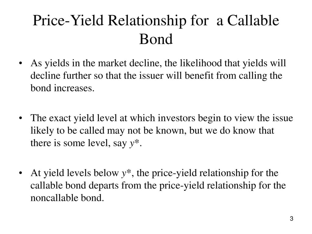 Price Yield Relationship For A Callable Bond