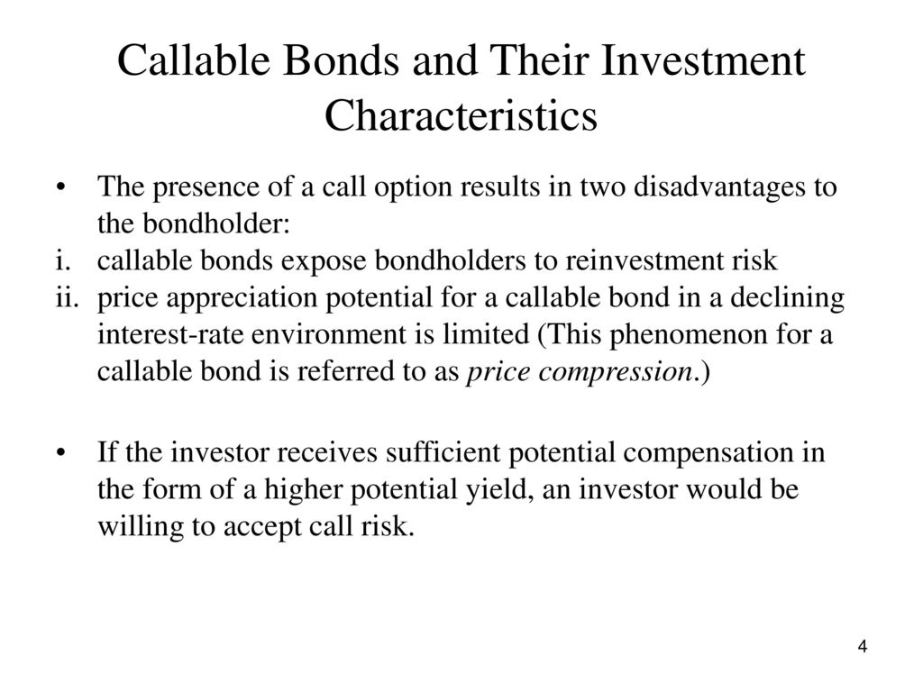 Callable Bonds And Their Investment Characteristics