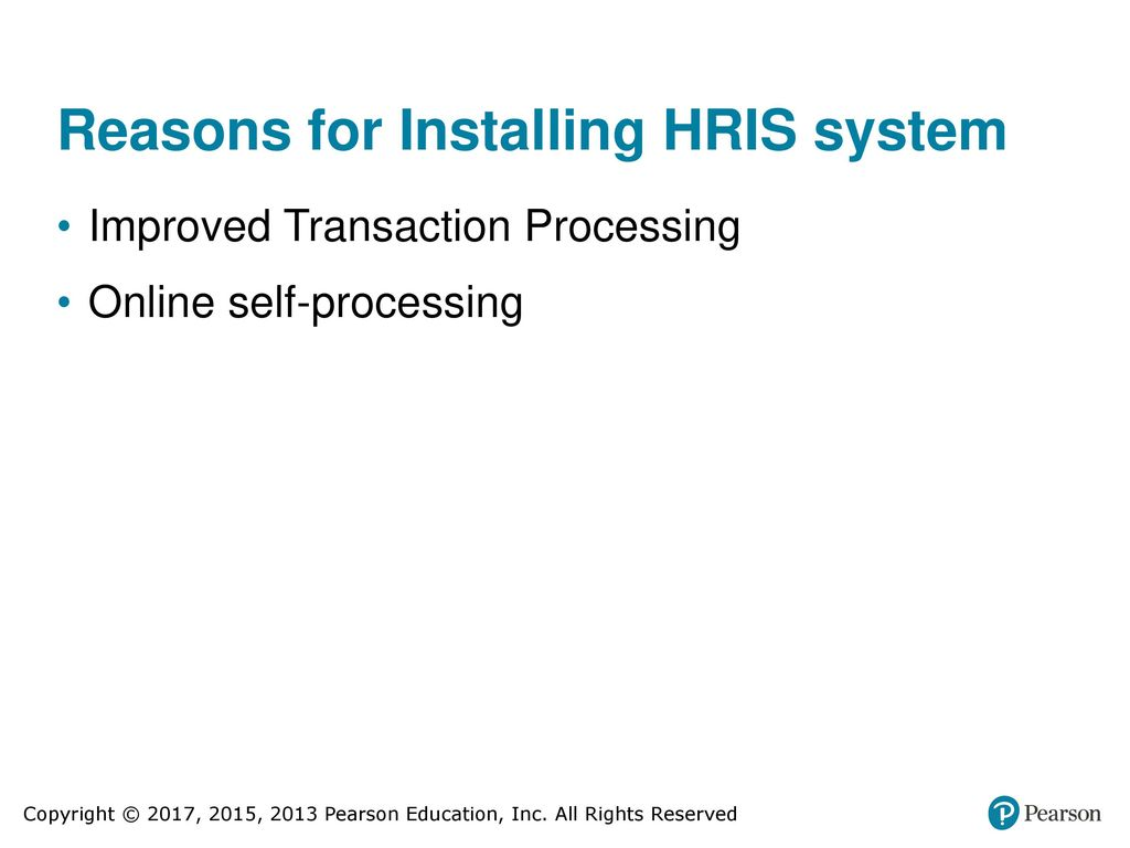 reasons for installing hris system