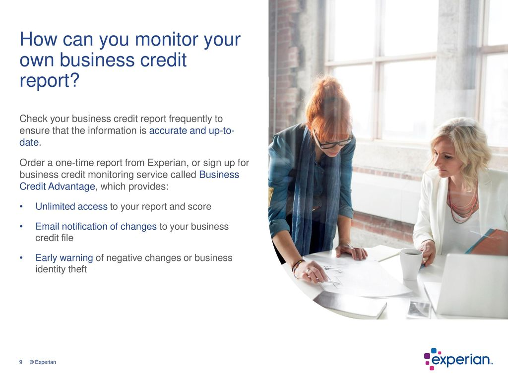 Small business and personal credit ppt download how can you monitor your own business credit report reheart Image collections