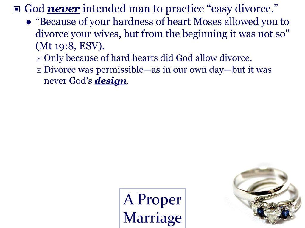 A Proper Marriage Matthew 5: ppt download