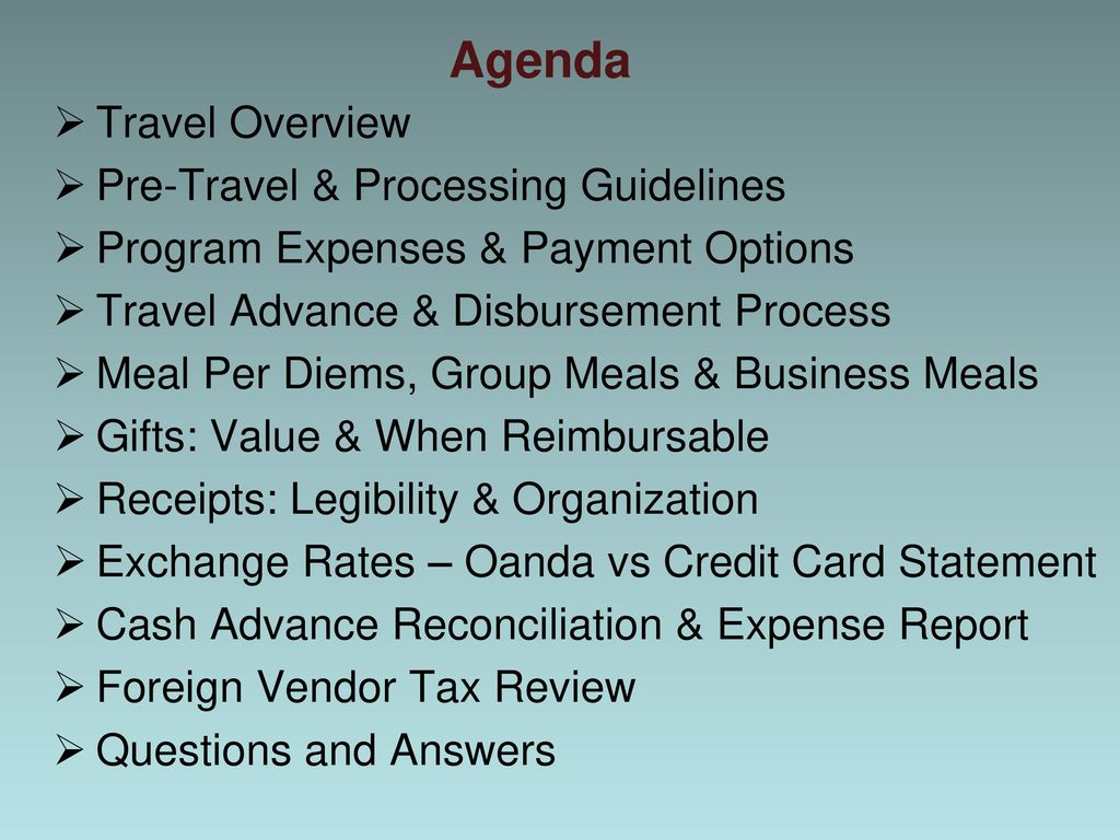 Study Abroad Travel Policies and Procedures - ppt download
