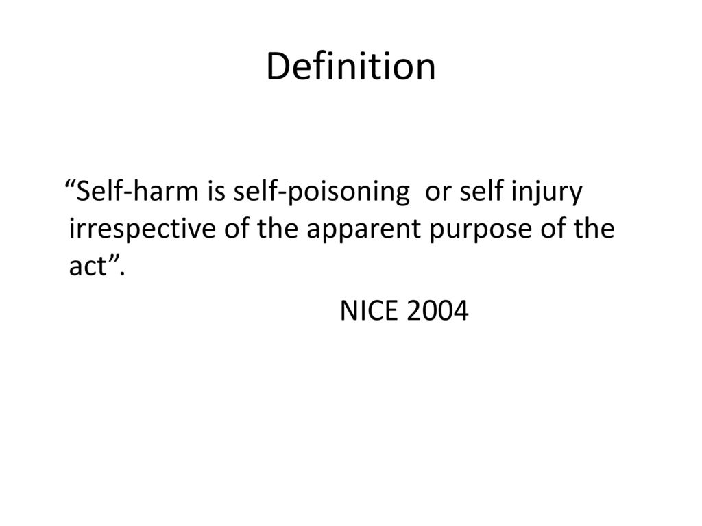 understanding self-harm in children and young people - ppt download
